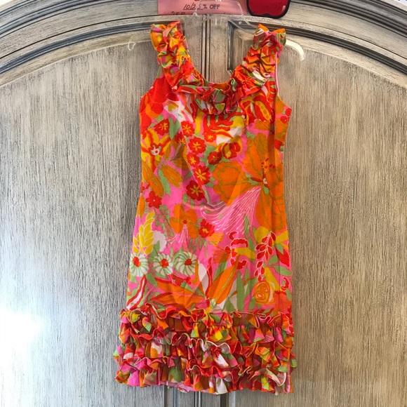Vintage Dresses & Skirts - Neon Bright 60's Vintage Mod Twiggy Mini Dress